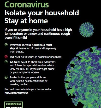 Stay At Home: Isolate Your Household Coronavirus