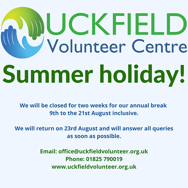 We are closed for a summer break 9th - 21st August 2021